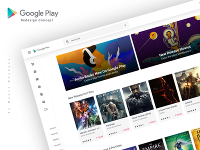 Google Play Store Concept manoj bhadana website clean design interface ui ux concept redesign appstore playstore google