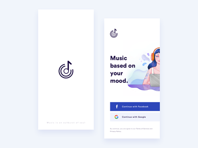 Music App Ui Kit animation type music app ux app typography illustration design ui