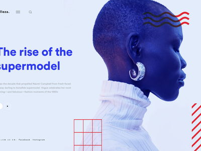 Belleza - Fashion Website lifestyle fashion type illustration abstract website web design ui ux