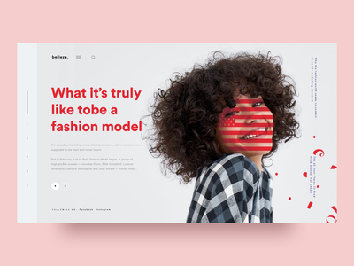 Lifestyle / Fashion Website modeling homepage website web abstract fashion illustration animation clean design typography design ux ui