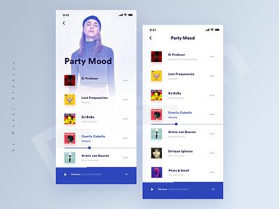 Music App Ui Kit clean app design animation abstract music app app typography design ui ux