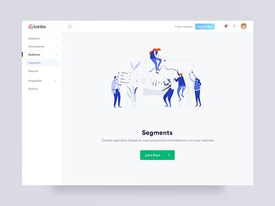 Dashboard - User Segments interaction manoj bhadana logo clean design branding clean illustration design ui ux segments user dashboad