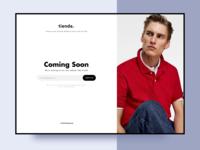 Coming Soon Screen - Website