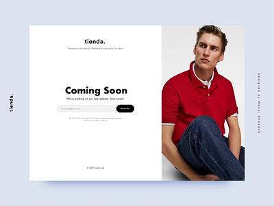 Coming Soon Page Interaction menfashion shopping luxury fashion manoj bhadana website ux ui design interaction animation coming soon page