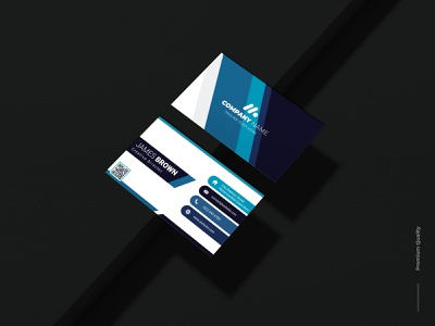 Professional Business Card. graphic desig