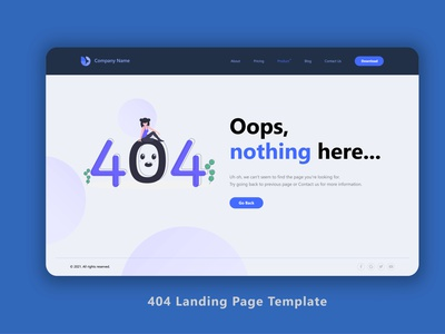 Landing page template of 404 404