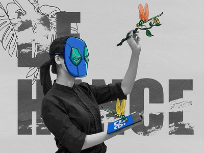 Behance photoshop chaulong dragonfly illustrations photo behance branding graphics illustration