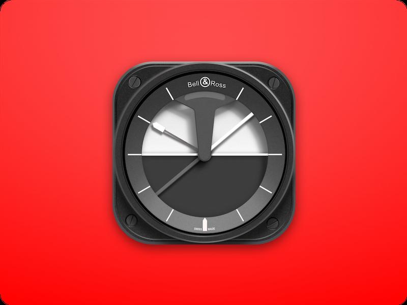 App Icon 2d ios app icon vector ux ui clock illustration watch dailyui