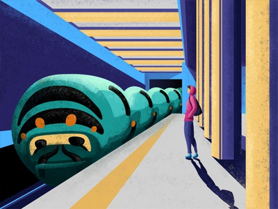 Underbug imagine world minimalistic illustrator minimalist illustration loonars