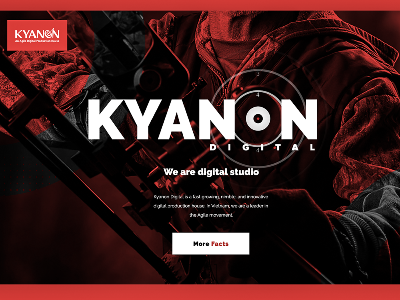 Kyanon Digital branding webagency interaction ux ui studio minimalist red duotone webdesign design