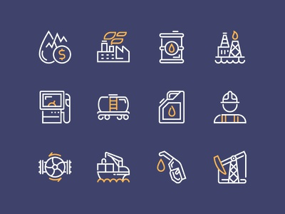 Oil Industry Icons vector oil industry illustrator icons icon gas