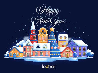 Happy New Year! texture santa newyear illustration grain christmas