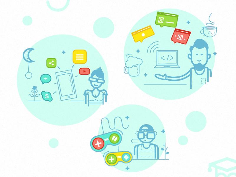 Web Design, Mobile Design, Game Design psp game mobile macbook ui design icons