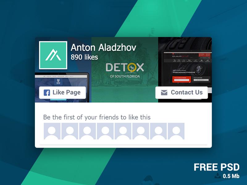 Facebook: Page Like Widget FREE like box psd download free plugin facebook like page like