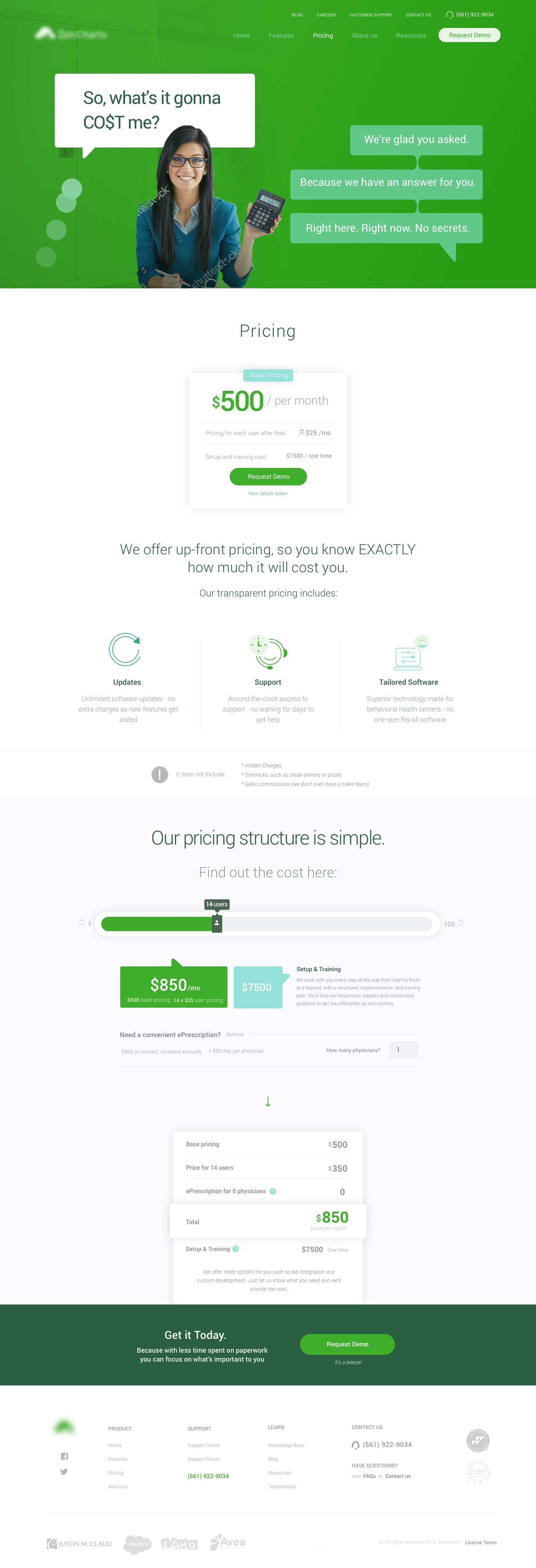 Zencharts pricing dribbble