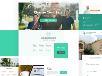 Addiction Solutions Florida Redesign redesign website drugs alcohol recovery rehabilitation addiction rehab