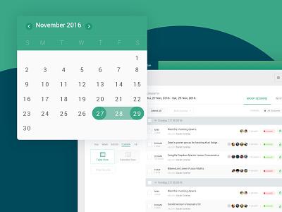 Scheduling Module App app design calendar date date picker scheduling