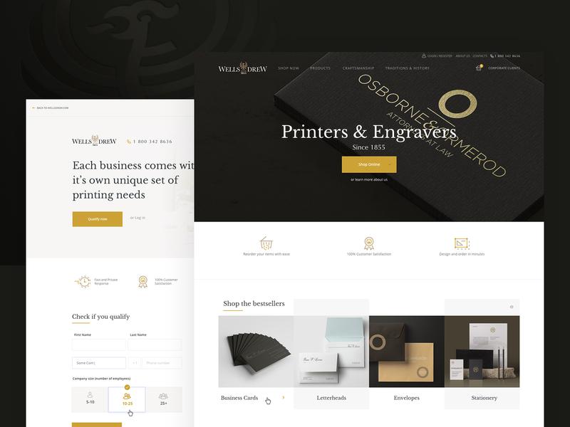 Printers & Engravers Website printing house engravers printers redesign website