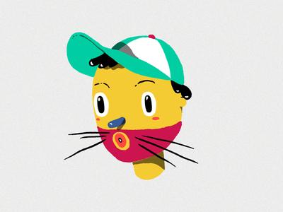 uh! adobephotoshop cat mask face illustration