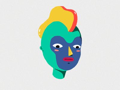 Mohawk character adobephotoshop mask face illustration
