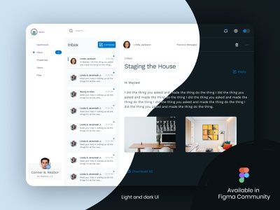 Shipwright UI Kit for Figma design ux dashboard inbox dark mode light mode download ui ui kit figma