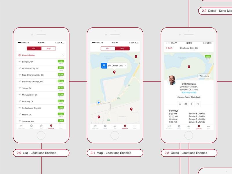 Life Church App - Locations iOS by Clint McManaman | Dribbble | Dribbble