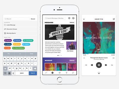 All the Media binge media ios audio player lifechurch ui ux navigation app