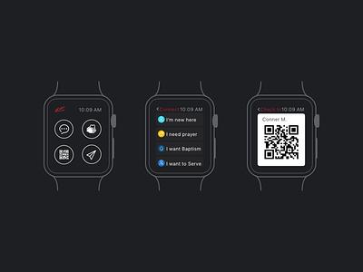 LC Watch App watch ui design flat dark apple watch apple