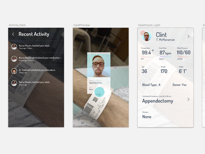 Augmented Reality Medical Prototype prototype ux ui care medical hospital patient profile health healthcare augmented reality ar