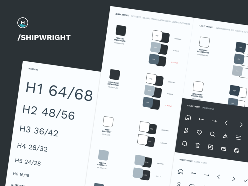 /Shipwright guide ux scale figma frontend component headway ui typography theme color color contrast design system