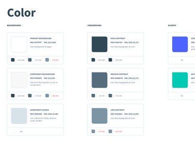 Color Contrast Swatches contrast figma swatch design system color