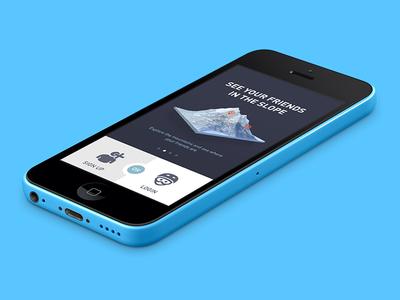 Skiioo mobile app 2013 - Signup / Login screen app mobile ski signup login frontpage sign-up intro