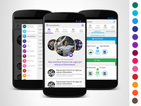 Android sports news app design