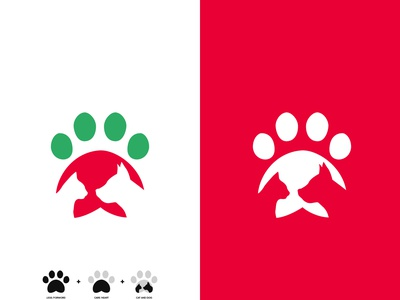 Pets Logo Design simplicity upwork fiverr behance dribbble business company heart logo leg logo cat and dog doc logo pets logo ui vector logo branding modern logo icon creative logo boxlesspro
