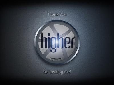 Thank You Higher  Smile higher inviting invitation invite black smile dribbble ball grey dark