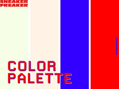 COLOR PALETTE // SNEAKER FREAKER brutal mint red blue sneaker palette colour color