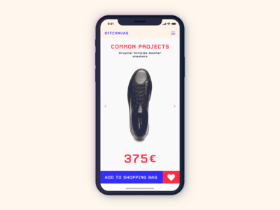 Mobile eCommerce UI