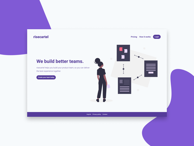 Landing Page Example in Figma based on tailwindcss color vector colour collection purple undraw illustration typography tailwindcss ui figma design dailyui