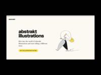 Landing page for abstrakt.design