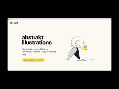 Landing page for abstrakt.design typography logo abstract art abstract design abstract landing page design landing design landing page design colour illustrations branding illustration dailyui