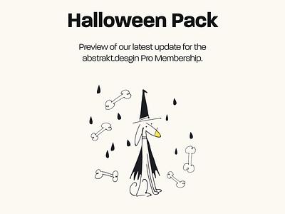 abstrakt.design Halloween Pack typography vector dailyui design colour halloween design halloween illustration