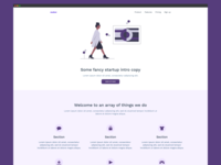 Startup Landing Page Template 01 for carrd.co