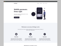 FREE Startup Landing Page Template 02 for carrd.co