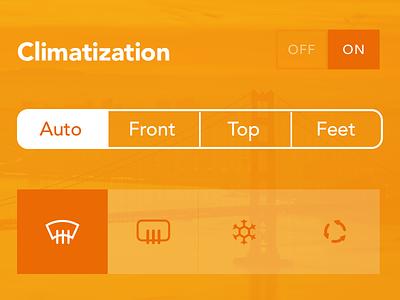 AC control dailyui interface user sketch sketchapp dashboard nav car clima