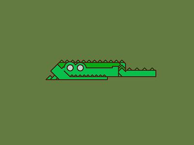 Alligator - Daily Logo #4 animal minimal minimalist line art adobe illustrator dailyui design logo dailychallenge
