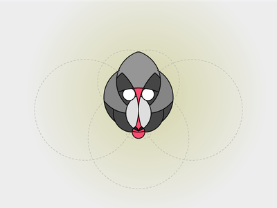 Day #6 - Baboon Logo vector adobe illustrator lineart minimal animal ui daily challenge challenge daily daily logo golden ratio