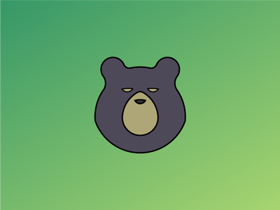 Bear Icon - Day #9 Daily Logo Challenge vmdx daily logo daily challenge adobe illustrator illustrator green black grizzly icon logo animal bear