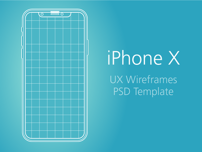 iPhone X - UX & PSD Template
