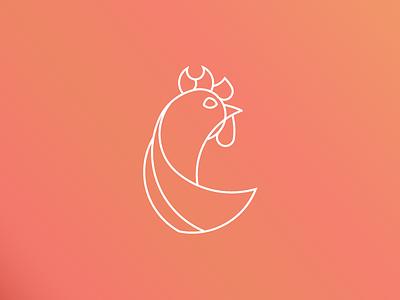 Chicken Logo - Daily Logo Challenge vali mdx lineart orange ui icon design icon adobe illustrator daily logo challenge chicken