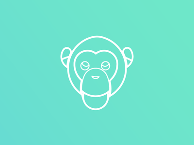 Chimp Logo Design chimp minimal minimalist line art adobe illustrator dailyui design logo dailychallenge